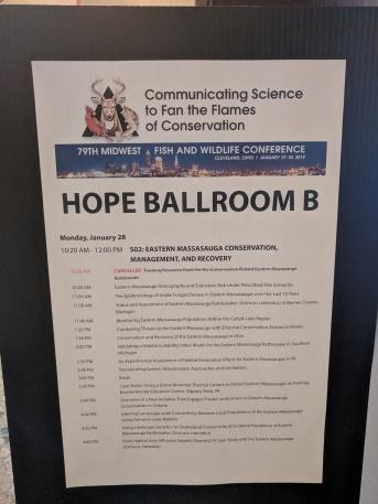 Massasauga symposium schedule